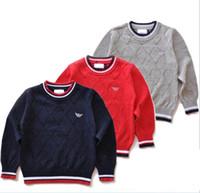 Wholesale Luxury brand Baby Boys Girls Children Kids Knitted Winter Autumn Pullovers cardigan Warm Outerwear boy girl Sweaters