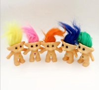 Wholesale 5 set Vinyl Lucky Troll Doll inch Dam Troll Doll Toy Figure