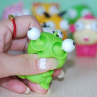 Wholesale Cute Small Squeeze Antistress Toy Pop Out Eyes Doll Novelty Stress Relief Venting Keychain Joking Decompression Funny Toys
