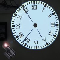 Wholesale Newest LED Projection Clock With Remote Control Dynamic Time Running Dial Plate Electronic Watch Living Room Wall Clock Ultra quiet