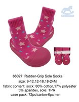baby grip socks - US Brand Luvena Fortuna Lovely Cute Fashion Soft Elastic Comfortable Baby Rubber Grip Sole Socks Red Blue Washable Warm Print Easy to wear