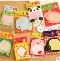 Wholesale 2016 New Fashion Cartoon Animal Leave Message Notes Notepads Convenient Paper Notebook Office School Supplies