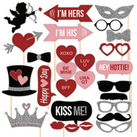 arrow paper party - Valentine s Day Wedding Photo Booth Props Photo Cupid s Arrow Crown Heart On A Stick Weeding Party Favor DIY Masks