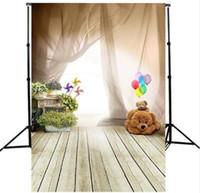 Wholesale 5x7ft Baby Bear Kids Floor Wall Window Photography Background Studio Photo Prop photographic Backdrop cloth x m