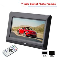 cheap wholesale top quality 7 hd tft lcd digital photo frame with alarm