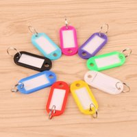 Wholesale Muli colors Plastic key Fob Pet ID Lage Tags Pet Name labels w key ring for Home School and Hotel
