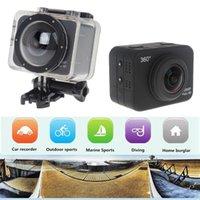 Wholesale 360 Vidoe Camera All View P Full HD Waterproof X360 WiFi Sport Camera Mini Camcorder P Action Cam Q10