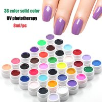 Wholesale new Pure Color color UV Gel colored vu gel For Nail Art uv gel nail polish sets