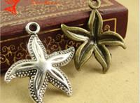 antique nautical items - A3696 MM Antique Bronze DIY Zakka starfish pendant charm beads jewelry accessories sea animal nautical charms item