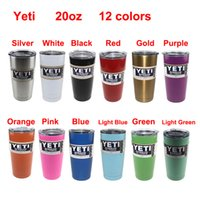 Wholesale 20oz Color Yeti Rambler Tumbler colors Stainless Steel Vacuum Insulated Cup Double Walled Travel Mug Car Cup