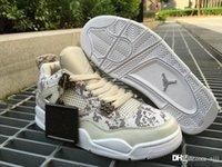 Air RR Jordan 4 Retro Pinnacle Premium Snakeskin Jordans Retros 4s Pinnacle Premium 819139 030 Zapatos De Baloncesto Con Caja Original