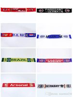 Wholesale New Real Madrid Soccer scarf Brazil Italian Soccer jersey Germany France Paris football scarf Each team