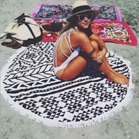 Wholesale Large Microfiber Printed Round Beach Towels With Tassel Circle Beach Towel Serviette De Plage Styles T1551