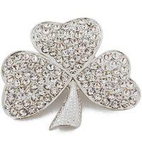 Wholesale Green Crystal Clover Pin Brooch Irish brooch x inches