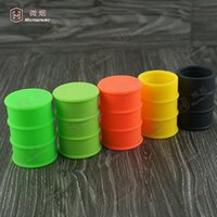 barrel parts - 26ml Silicone oil barrel container jars dab wax vaporizer oil food grade silicone smoking pipe parts J01