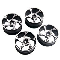 Cars aluminum rc rims - RC Rim Black Aluminum Wheel mm For HSP Sakura HPI On Road Drift Car