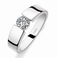 Wholesale Never fade new silver jewelry wedding men rings jewelry fashion rings for mens couple ring