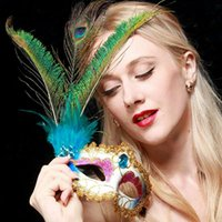 Wholesale Fashion Trend Personality Masquerade Feather Mask High Quality Party Mask For The Adult Party