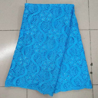 Wholesale PL5529 New design high quality African Nigerin bridal lace fabric for wedding party dress making yards piece