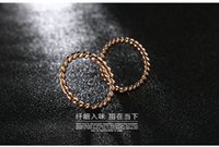 Wholesale Simple twist joint ring fine Beck K rose gold ring Weijie plating small female accessories