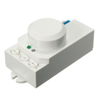 Wholesale Brand New Hight Quality x38x40mm AC V V GHz Microwave Radar Sensor Body Motion HF Detector Light Switch Indoor