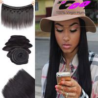 8A Grade de cheveux vierges péruviennes Straight 3 Bundles Cheveux humains non transformés Tisser 8-30 pouces Cheap Price Factory Wholesale Hair