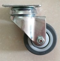 Wholesale 25mm mm mm mm mm mm mmTPR Casters Plate Mount Locking Swivel Casters