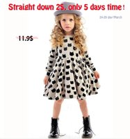 Knee-Length american stock trade - New Special Offer Stocking Baby girls comfortable black cotton trade pattern printing stretch tight skirt dress