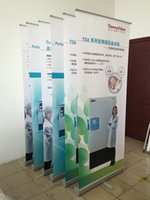 banner stand material - Super Quality Single Foot Thicker Material Aluminum Roll up Display Banner Stand without printing
