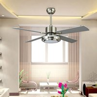 Wholesale 132cm Ceiling Fan LED Pendant Lamps W E27 AC V LED Pendant Lights with Metal Glass for Bedroom