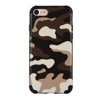 Pour iPhone 7 6S Ultra-mince Scratchproof Cell Phone Case Camouflage Et Grain Design Avec OPP Bag
