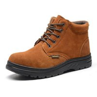 Wholesale Men s Breathable Work Safety Shoes Protective Boots Penetration resistant Water Resistant Smash proof