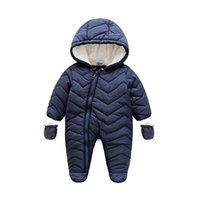 baby onesie lot new - New Thick Winter Baby Romper Cotton padded Warm Jumpsuit Windproof Infant Boys Snowsuit Onesie Playsuit