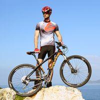 Wholesale SAVA DECK500 quot Carbon Fibre MTB Mountain Bike Ultralight Speed Bicycle Cycle SHIMANO M780 XT Derailleur Hydraulic Brake