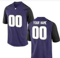Wholesale Cheap Men s Women Youth Kid Washington Huskies Personalized Customized College Football jersey Black White Purple Jersey Top Quality Drop Sh