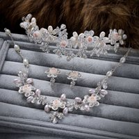 Wholesale Bride wedding jewelry sets ornaments earrings necklace crown