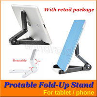 Wholesale Portable Adjustable Tablet Fold up Stand Holder Multifunctional Plastic Bracket for Apple iPad Galaxy Tab Kindle Fire Tablet PC Mounts