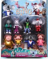 Ensemble (8 Pieces à l'intérieur) Chantez le film de dessin animé Jouet de Figurine Enfants Cadeaux Poupées Jeu mignon jouets de jeu de PVC