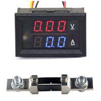 Wholesale DC V A Digital LED Voltmeter Ammete Voltage Current Panel Meter Shunt