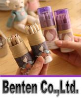 Wholesale 12 DIY Cute Kawaii Wooden Colored Pencil B Wood Colorful Pencil for Drawing Painting Supplies LLFA