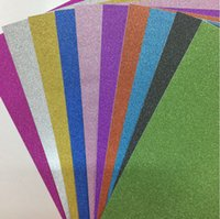 Wholesale 10 sheets A4 Glitter Paper with glue FOR DIY handmade Materials