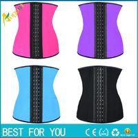 Wholesale 9 steel bone Latex Rubber corset body shaper Waist Trainer training corsets Corset Latex Waist Cincher Slimming Shapewear new hot sale