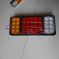 Wholesale 140 LED plastic tail light LED LED turn signal LED brake lights with Red Yellow White Three colors fast shipping