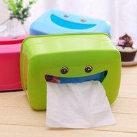 Wholesale Novelty useful plastic Tissue boxes cartoon lovely smile for living room kitchen bathroom
