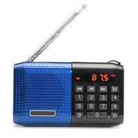 Wholesale New Portable Stereo FM Radio Speaker Digital USB MP3 Music Player With TF Card Slot mAh Battery mm Earphone Jack