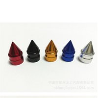 Wholesale pieces Aluminium Alloy Smart Conical tower shape American Schrader Cycle Valve Air Caps Airtight Cover For Car motorcycle