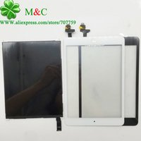 Wholesale Tested Mini LCD Touch Panel For iPad Mini LCD Display Touch Screen Digitizer Panel Home Button With IC Adhesive Sticker