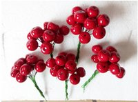 Display Flower pomegranate - Christmas decorations mm Head Xmas Pearl Red Pomegranate Fruit For Christmas Flower Wreath And Garland set
