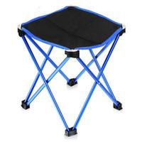 aluminum folding beach chairs - Lightweight Outdoor Aluminum Square Portable Foldable Folding Fishing Chair Outdoor Hiking Travel beach chair