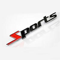 auto motors sport - 50pcs Metal Sports Emblem D Car Truck Motor Sticker Auto Decal Car Styling for Cruze Focus Mazda Granta Solari